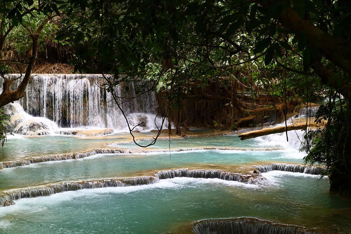 Wodospady Kuang Si - Perła Laosu