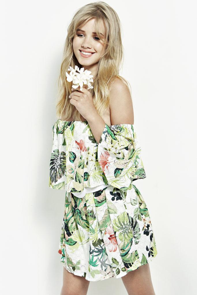 Letnia sunkienka w kwiaty - Guess