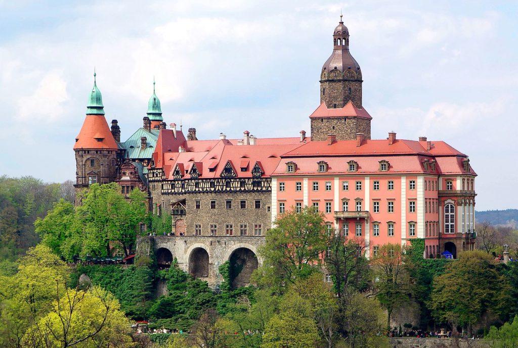 Zamek Książ w Wałbrzychu.