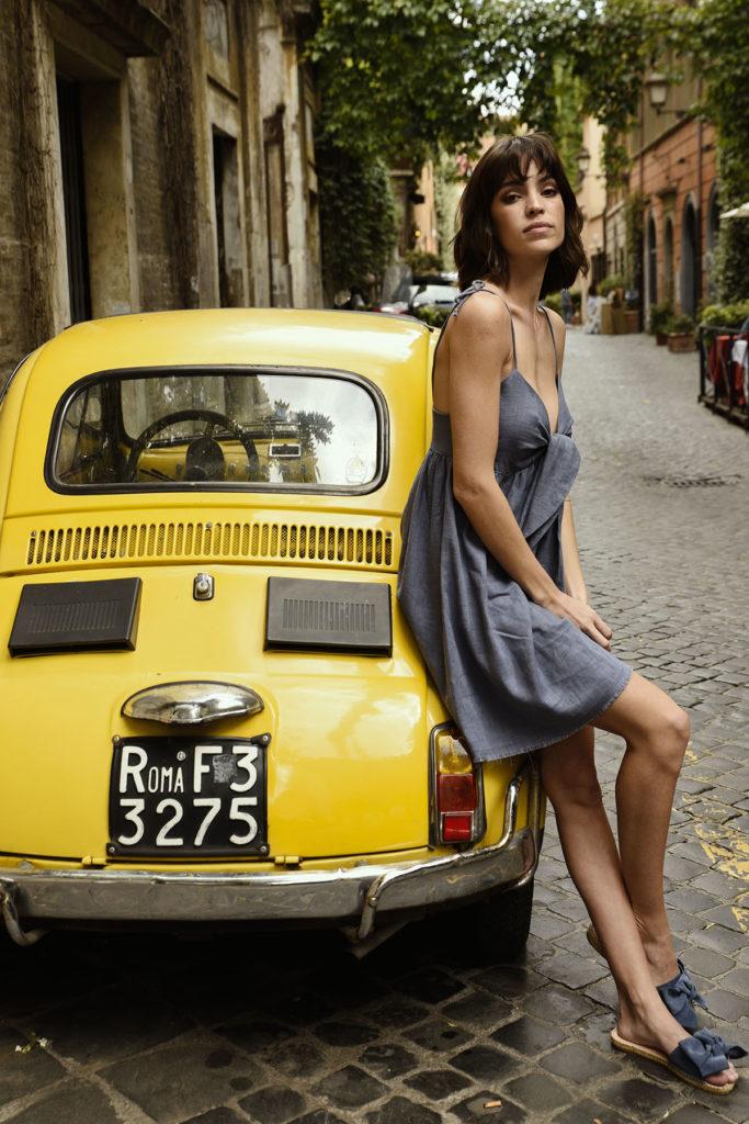 Kolekcja letnia 303 avenue - Szara sukienka letnia