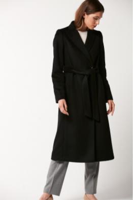 Damski płaszcz, czarny