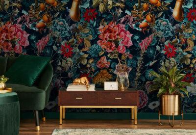 Kolorowa aranżacja wnętrz – mocne barwy na ścianie